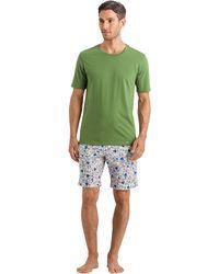 Hanro Luca Short Woven Pants - Green