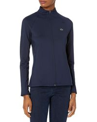Lacoste Sport Full Zip Mid Layer Golf Jacket - Blue