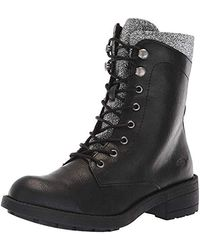 Rocket Dog Tayte Archive Pu/disco Fabric Combat Boot - Black