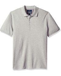 Buttoned Down Slim-fit Supima Cotton Stretch Pique Polo - Gray