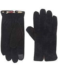 Levi's - Suede Touchscreen Glove With Watch Vent And Sherpa Lining - Lyst