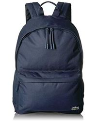 Lacoste - Solid Canvas Backpack - Lyst