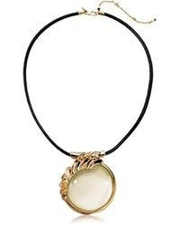 Alexis Bittar - Crystal Studded Sculptural Sphere Pendant Necklace - Lyst