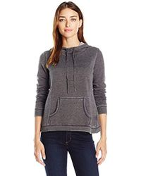 Steve Madden - Distressed Fleece Hoodie With Tulip Back - Lyst