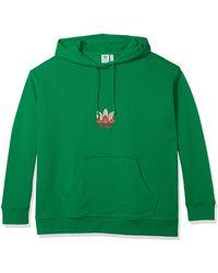 adidas Originals Womens 3d Trefoil Hoodie Green/multicolor 3x