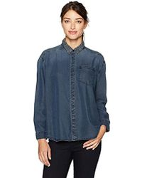 Shirt Sleeve Button Down Long Denim Blue Jeans TFc1ulJ3K