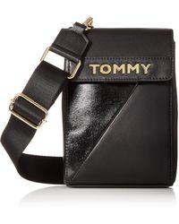 Tommy Hilfiger Large Cassie Iphone Crossbody - Black