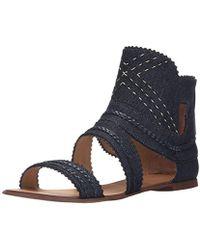 8c4aede4b03c Lyst - Joe s Jeans Eryn Sandal in Black in Black