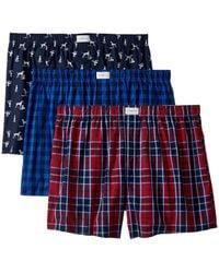 Tommy Hilfiger Underwear Multipack Cotton Classics Woven Boxer - Blue