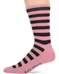 Nudie Jeans Unisex-adult's Olsson 2 Color Stripe - Pink