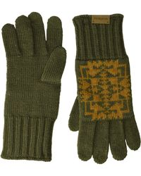 Pendleton Knit Gloves - Natural