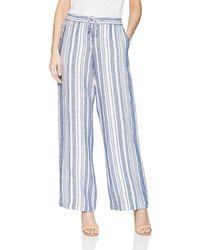 Jones New York Stripe Linen Easy Pant - Blue