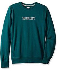 Hurley Pullover Crewneck Fleece Hoodie - Green