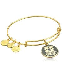 ALEX AND ANI - Armed Forces Us Army Expandable Wire Bangle Charm Bracelet - Lyst