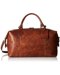 Frye Logan Overnight Satchel Handbags - Brown