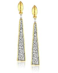 Gurhan - Mystere Collection Sterling Silver Elongated Drusy Drop Post Earring, One Size - Lyst