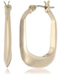 """Kenneth Cole - """"shiny Earrings"""" Rectangle Hoop Earrings - Lyst"""