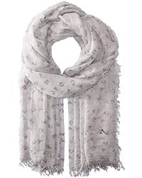 Armani Jeans - Rose Print Woven Scarf - Lyst