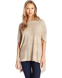 Joan Vass Oversized Seamed Sweater - Natural