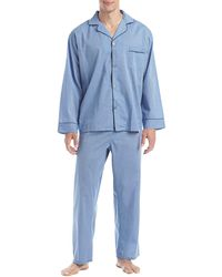 Hanes Broadcloth Pajama Set - Blue