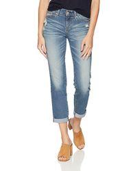 Signature by Levi Strauss & Co. Gold Label Plus Mid Rise Slim Boyfriend Jeans - Blue