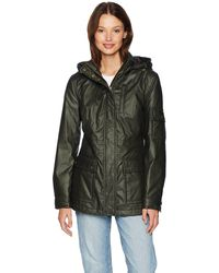 Pendleton Waxed Cotton Hooded Zip Front Jacket - Green
