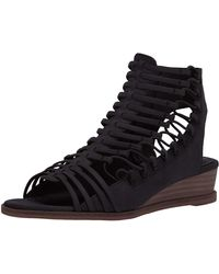 Vince Camuto Women's Romera Nubuck Leather Strappy Sandals - Black