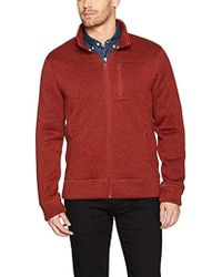 Lucky Brand Shearless Fleece Mock Neck Sweater - Red