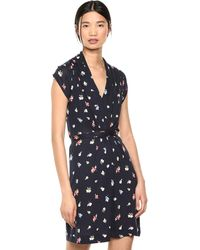 French Connection Jersey Wrap Dresses - Blue