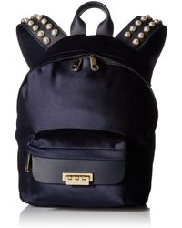 Zac Zac Posen Eartha Iconic Small Backpack-satin And Pearls - Blue