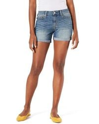 Signature by Levi Strauss & Co. Gold Label Mid-rise Shorts - Blue