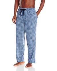 Perry Ellis New Plaid Woven Sleep Pant - Blue