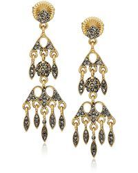 Badgley Mischka Chandelier Drop Earrings - Metallic