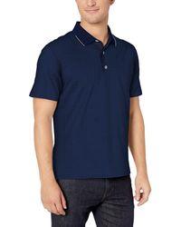 Robert Graham Northcliff Short Sleeve Knit Polo - Blue