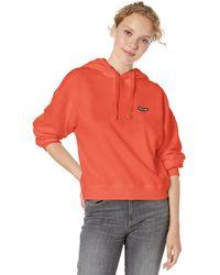 Volcom Knew Wave Boxy Hooded Sweatshirt - Red