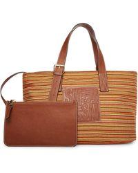 Steve Madden Nettie Raffia Tote Bag - Natural