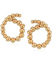 Laundry by Shelli Segal - Small Spiral Post Stud Earrings, Gold - Lyst