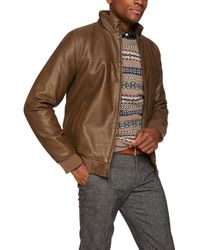 Tommy Hilfiger Faux-leather Bomber Jacket - Brown