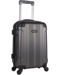 Kenneth Cole Reaction Out Of Bounds 20-inch Carry-on Lightweight Durable Hardshell 4-wheel Spinner Cabin Size Luggage - Gray