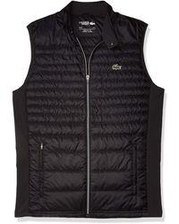 Lacoste Sport Padded Golf Vest - Black