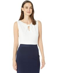 Nine West Ity With Knotted Key Hole Neck Detail - White