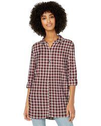 Goodthreads Modal Twill Long-Sleeve Button-Front Shirt Dress-Shirts - Rosso