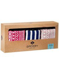 Sperry Top-Sider - Fair Isle Knee-high Socks (pack Of Three) - Lyst