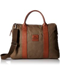 Buxton Expedition Ii Huntington Canvas Laptop Briefcase - Green
