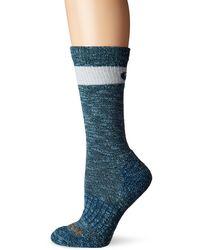 Carhartt Womens Merino Wool Crew Casual Sock - Blue