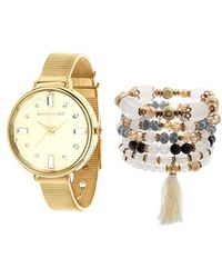 Steve Madden - Quartz Metal And Alloy Watch, Color:gold-toned (model: Smgs011g) - Lyst