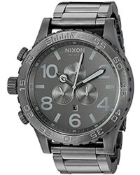 Nixon - '51-30 Chrono' Quartz Stainless Steel Casual Watch, Color:grey (model: A0832090) - Lyst