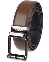 Kenneth Cole 1.3 In. Wide Adjustable Compression Perfect Fit Slide Belt - Brown