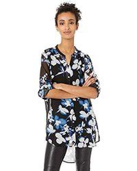 Calvin Klein - Printed High Low Tunic - Lyst