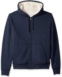 Amazon Essentials Sherpa Lined Full-Zip Hooded Fleece Sweatshirt Novelty-Hoodies - Blu